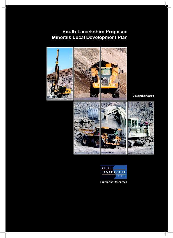 Cover of proposed Minerals Plan (2010)